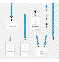 realistic set plastic badges samples vector image