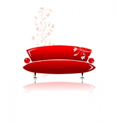 red sofa design vector image