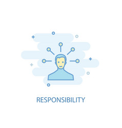 responsibility line concept simple line icon vector image