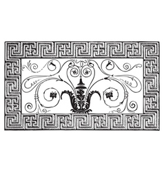 Roman mosaic engraving vector