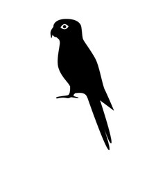 Rosella parrot silhouette icon in flat style vector