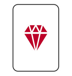 Ruby playing card vector