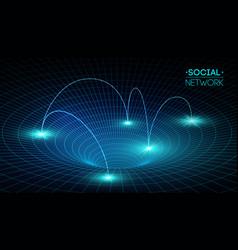 social network media global people communication vector image