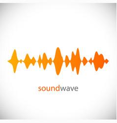 sound wave design element vector image