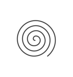 spiral or swirl line outline icon vector image