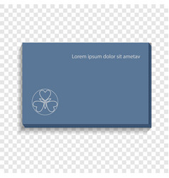 Stack of calling card icon realistic style vector