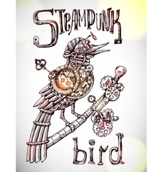 steampunk bird vector image