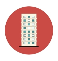 Symbol apartment building line sticker vector