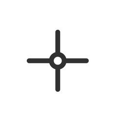 Target icon sight sniper symbol crosshair and aim vector