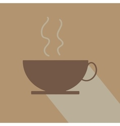 trendy coffee or tea cup vector image