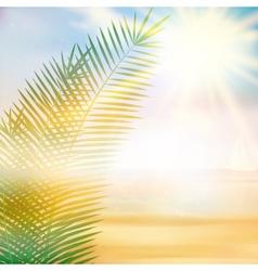 Tropical beach summer template vector