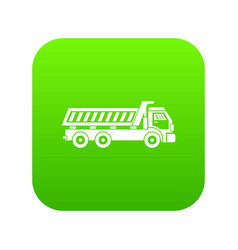 truck icon digital green vector image