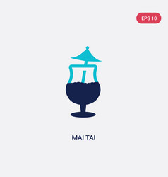 two color mai tai icon from drinks concept vector image