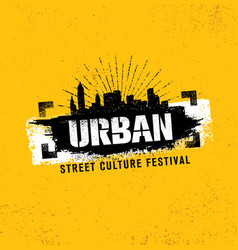 Urban street culture festival rough vector