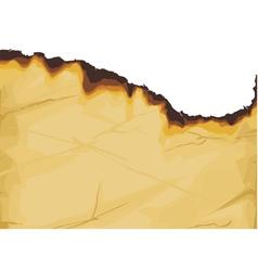 Vintage grunge burnt paper vector