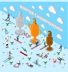 Winter games championship composition vector