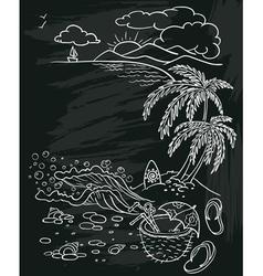 beach poster vector image