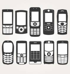 cellphones outline vector image vector image