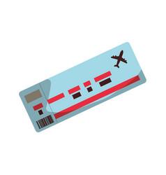 flight ticket paper vector image vector image