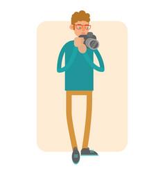 photographer cartoon character vector image