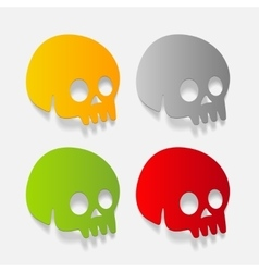 realistic design element skull vector image