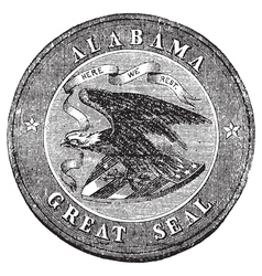 Alabama State Seal vector image