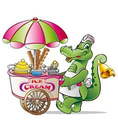 alligator ice cream vector image