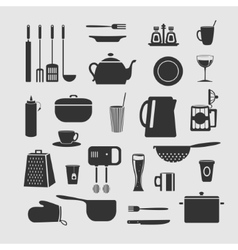 Cookware set of objects vector image vector image