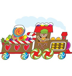 gingerbread train vector image vector image