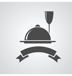 restaurant menu symbol vector image vector image