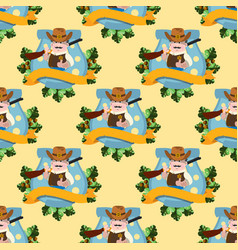 seamless pattern for design surface with sheriff vector image vector image