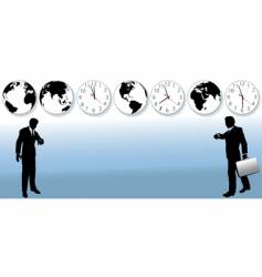 world business time zones vector image vector image