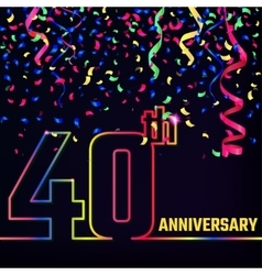 Anniversary Outline Banner vector image vector image