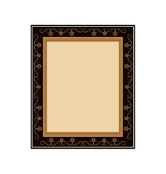 artistic frame icon vector image