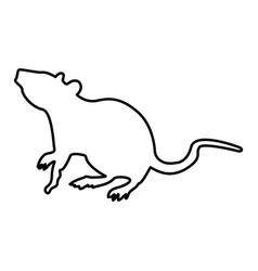 rat black color icon vector image vector image