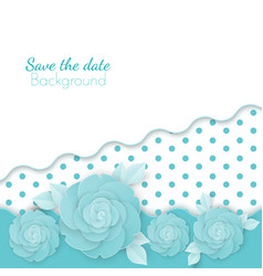 save the date flowers background with dots paper vector image vector image