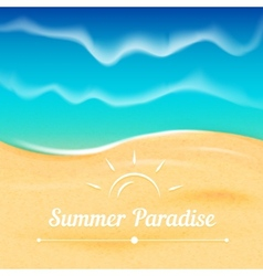 Summer background with sea view vector image