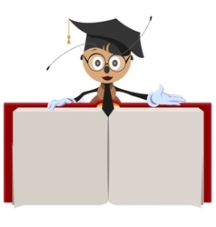 Ant teacher holding open book vector image vector image