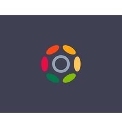 Color letter O logo icon design Hub frame vector image vector image