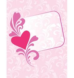 greeting card decorative vector image