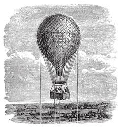 hot air balloon engraving vector image