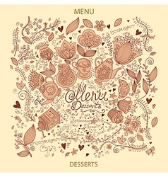 Menu with doodles vector image