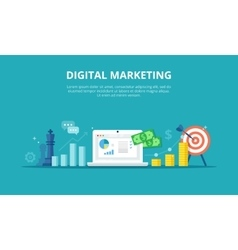 Online Marketing Internet vector image vector image