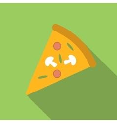 Pizza flat icon vector image