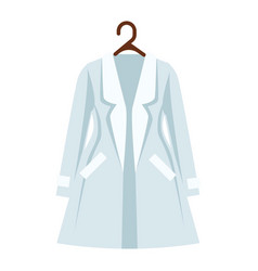 White and light blue color coat of women s vector