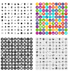 100 glove icons set variant vector