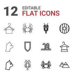12 simplicity icons vector