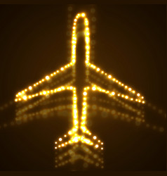 abstract airplane of glowing dots vector image