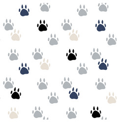 abstract animal foot print seamless pattern vector image