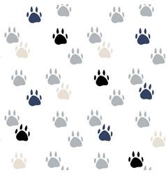 Abstract animal foot print seamless pattern vector